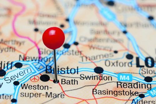 Bristol on a map