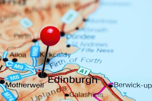 Edinburgh on a map