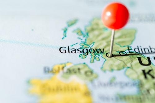Glasgow on a map