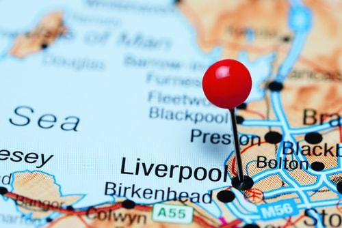 Liverpool on a map